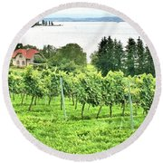 Lake Constance Round Beach Towel