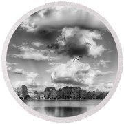 Round Beach Towel featuring the photograph Lake De Soto by Howard Salmon
