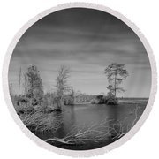 Lake Drummond Round Beach Towel