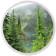 Lake Eunice II Round Beach Towel by Tikvah's Hope
