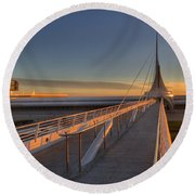 Lake Front View Round Beach Towel