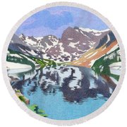 Lake Isabelle Colorado Round Beach Towel