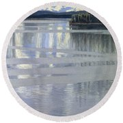 Lake Keitele Round Beach Towel