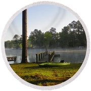 Lake Life Round Beach Towel