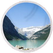 Lake Louise Alberta Canada Round Beach Towel