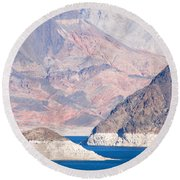 Round Beach Towel featuring the photograph Lake Mead National Recreation Area by John Schneider