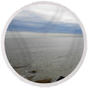 Lake Michigan 3 Round Beach Towel