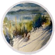 Lake Michigan October Round Beach Towel
