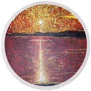 Lake Norman Round Beach Towel