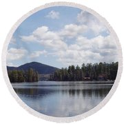 Lake Placid Round Beach Towel by John Telfer