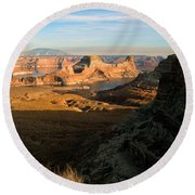 Lake Powell From Alstrum Pt 02 Round Beach Towel