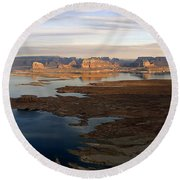 Lake Powell From Alstrum Pt Pan 2 Round Beach Towel