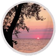 Lake Sunset Round Beach Towel by Aimee L Maher Photography and Art Visit ALMGallerydotcom