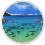 Lake Tahoe Cove Round Beach Towel