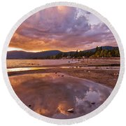 Round Beach Towel featuring the photograph Lake Tahoe by Mae Wertz