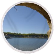 Lake Texoma Eisenhower State Park  Texas Round Beach Towel by Charles Beeler