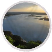 Lake Travis Sunset Round Beach Towel