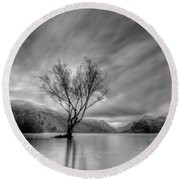 Lake Tree Mon Round Beach Towel