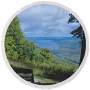 Lake Vista Round Beach Towel