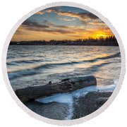 Lake Yankton Minnesota Round Beach Towel