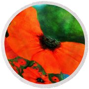Lakeside Bloom Round Beach Towel