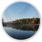 Lakeside Cottage Living - Peaceful Morning Mirror Round Beach Towel