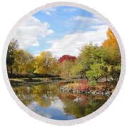 Lakeside Park Round Beach Towel
