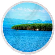 Lakeview Round Beach Towel