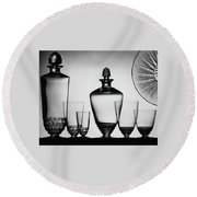 Lalique Glassware Round Beach Towel by The 3