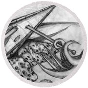 Lament Round Beach Towel