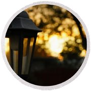 Lamplight Round Beach Towel by Photographic Arts And Design Studio