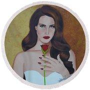 Lana Del Rey Round Beach Towel