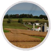 Lancaster County Farm Round Beach Towel