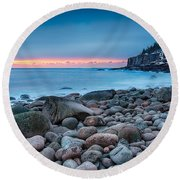 Land Of Sunrise Round Beach Towel
