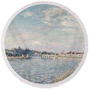 Landscape, 1888 Oil On Canvas Round Beach Towel