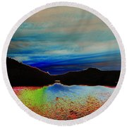 Landscape Abstract Round Beach Towel