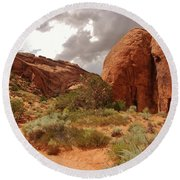 Landscape Arch - Utah Round Beach Towel by Dany Lison