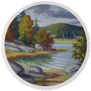 Landscape From Finland Round Beach Towel