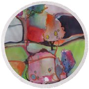 Landscape Round Beach Towel by Michelle Abrams