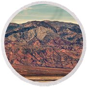 Landscape With Mountain Range Round Beach Towel by Panoramic Images