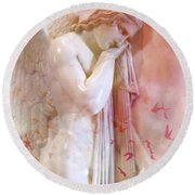 L'angelo Celeste Round Beach Towel