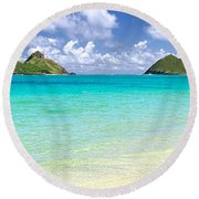 Lanikai Beach Paradise 3 To 1 Aspect Ratio Round Beach Towel by Aloha Art