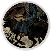 Round Beach Towel featuring the photograph Laozi, Ancient Chinese Philosopher by Science Source