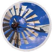 Large Windmill Round Beach Towel