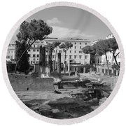 Largo Di Torre - Roma Round Beach Towel by Dany Lison