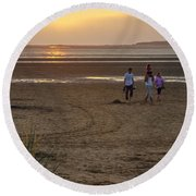 Last Colourful Days Of Summer Round Beach Towel by Spikey Mouse Photography