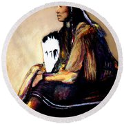 Quanah Parker- The Last Comanche Chief Round Beach Towel