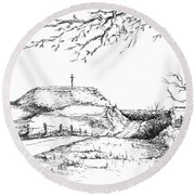 Last Hill Home Round Beach Towel