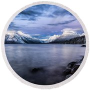 Last Light Round Beach Towel by Aaron Aldrich