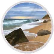 Round Beach Towel featuring the photograph Last Light Before The Storm by Roupen  Baker